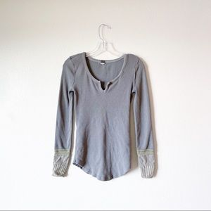 FREE PEOPLE we the free thermal cuff top